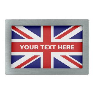 Britische Gewerkschafts-Jackflaggen-Gürtelschnalle Rechteckige Gürtelschnallen