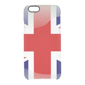 Britische glatte Flagge Durchsichtige iPhone 6/6S Hülle