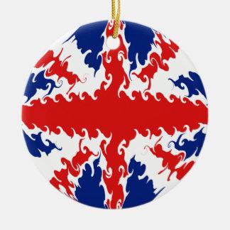 BRITISCHE Gnarly Flagge Rundes Keramik Ornament