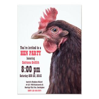 Britische Junggeselinnen-Abschieds-Henne-Nacht 12,7 X 17,8 Cm Einladungskarte