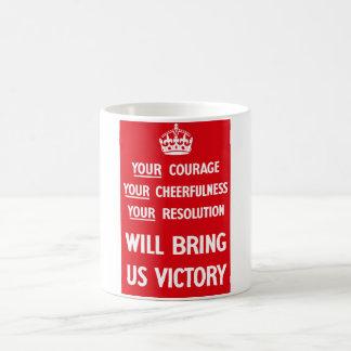 Britische Propaganda WW2 Kaffeetasse