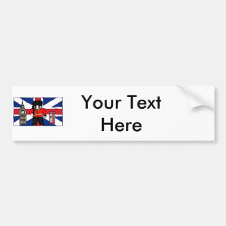 Britischer Dachs-Big- Bentelefon-Stand-Cartoon Autoaufkleber