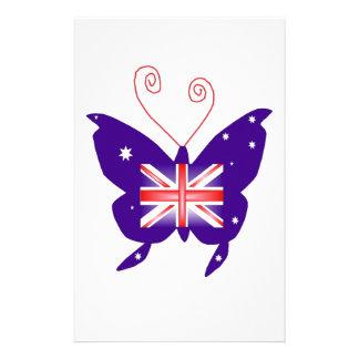 Britischer Diva-Schmetterling Personalisierte Druckpapiere
