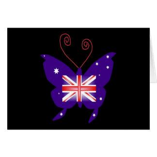 Britischer Diva-Schmetterling Grußkarte