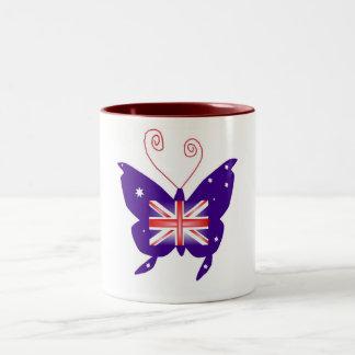 Britischer Diva-Schmetterling Zweifarbige Tasse