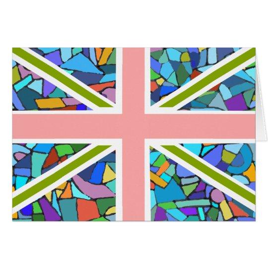Britischer Flaggen-Gewerkschafts-Jack inspiriert Karte