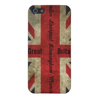 Britischer Flaggen-/Stadtkasten - iPhone 4 iPhone 5 Etui