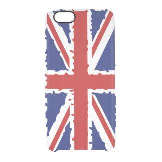 Britisches Flaggenfarbenspritzen Durchsichtige iPhone 6/6S Hülle