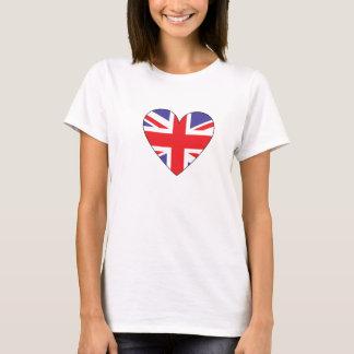 Britisches Flaggenherz T-Shirt