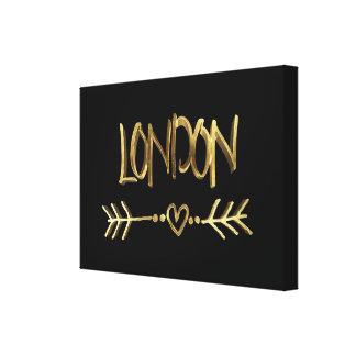 BRITISCHES Liebe-Schwarzes Londons und Galerie Gefaltete Leinwand