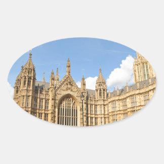 Britisches Parlament Ovaler Aufkleber