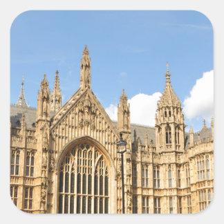 Britisches Parlament Quadratischer Aufkleber