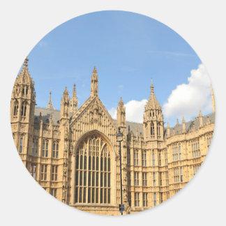 Britisches Parlament Runder Aufkleber