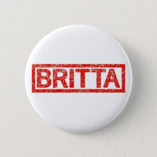 Britta Briefmarke Runder Button 5,1 Cm