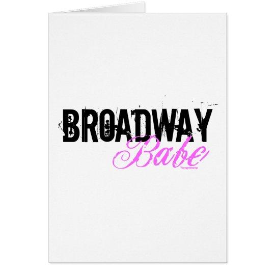 Broadway-Baby Grußkarte
