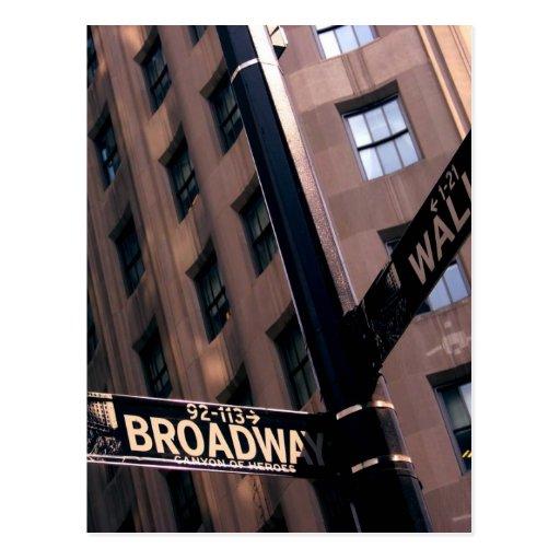 Broadway/Wallstreet Postkarte