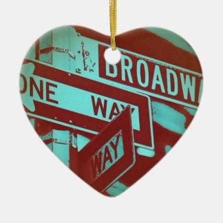 Broadway-Zeichen Keramik Ornament