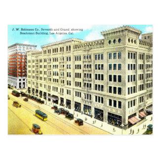 Brockman Gebäude, Los Angeles 1916 Vintag Postkarte
