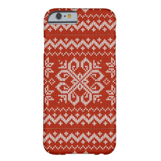 Broderie rouge de vacances coque iPhone 6 barely there
