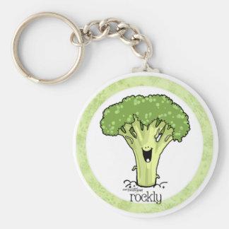 Brokkoli-Cartoon Veggie keychain Schlüsselanhänger