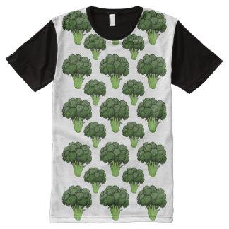 Brokkoli überall T-Shirt mit bedruckbarer vorderseite