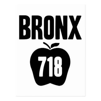 Bronx mit großem Apple u. dem 718 Postleitzahl-Aus Postkarten