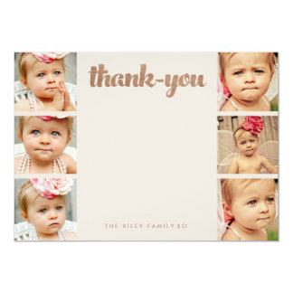 Bronzebaby danken Ihnen 6 Foto-Rahmen-flache Karte