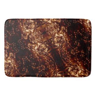 Bronzeblumenprägenkunst browns badematte