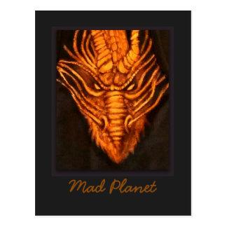 Bronzedrache-Kopf Postkarte