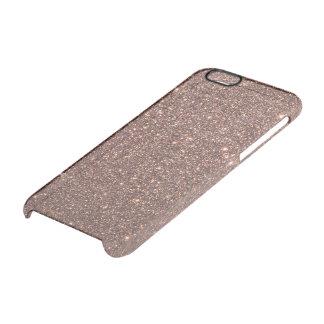 BronzeGlitter-Glitzern Durchsichtige iPhone 6/6S Hülle