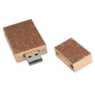 BronzeGlitter-Glitzern Holz USB Stick