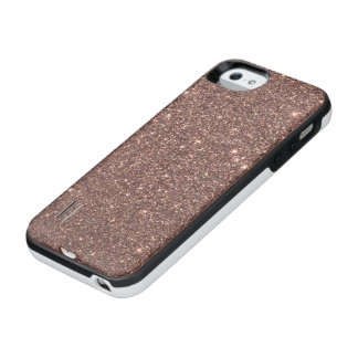 BronzeGlitter-Glitzern iPhone SE/5/5s Batterie Hülle