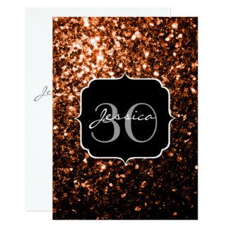 BronzeGlitter-Glitzern Monogramm-Einladung 12,7 X 17,8 Cm Einladungskarte