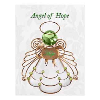 Bronzegrün - Weihnachtsengel der Hoffnung Postkarte
