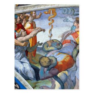 Bronzeschlange durch Michelangelo Unterberger Postkarte