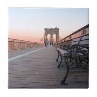 Brooklyn-Brücke Kleine Quadratische Fliese