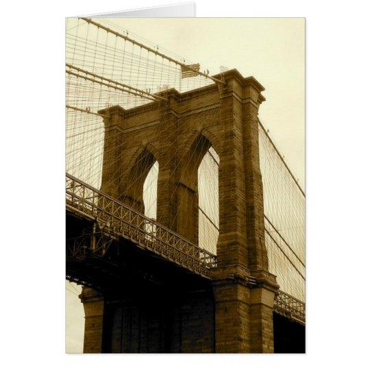 Brooklyn-Brücke Mitteilungskarte