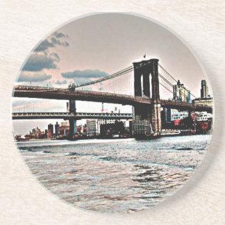 Brooklyn-Brücke Sandstein Untersetzer