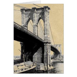 Brooklyn-Brücken-Fähren 1896 Karte