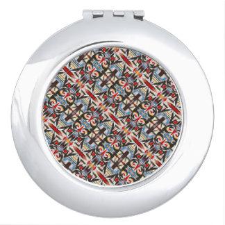 Brooklyn-Moderne Brushstrokes geometrisch Taschenspiegel