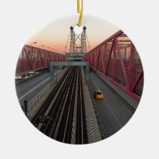 Brooklyn-Taxi Rundes Keramik Ornament