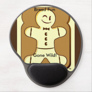 Brot-Spaß gegangene wilde Mausunterlage Gel Mouse Matte