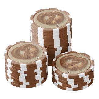 Brote und Brezeln von Prag Poker Chips Set