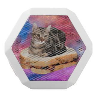 Brotkatze - Raumkatze - Katzen im Raum Weiße Bluetooth Lautsprecher