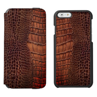 Brown-Alligatorklassisches Reptil-Leder (Imitat) Incipio Watson™ iPhone 6 Geldbörsen Hülle