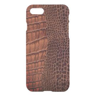 Brown-Alligatorklassisches Reptil-Leder (Imitat) iPhone 7 Hülle