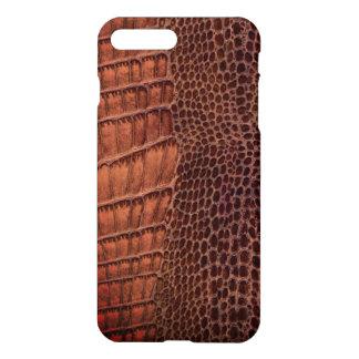 Brown-Alligatorklassisches Reptil-Leder (Imitat) iPhone 7 Plus Hülle