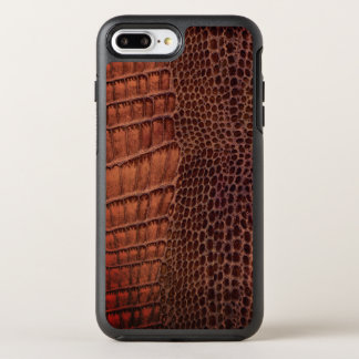 Brown-Alligatorklassisches Reptil-Leder (Imitat) OtterBox Symmetry iPhone 8 Plus/7 Plus Hülle