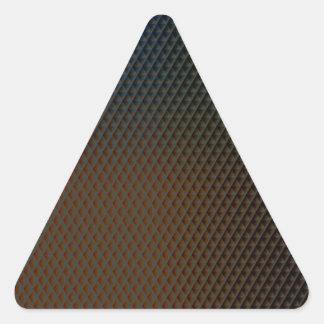 Brown-Beschaffenheit Dreieckiger Aufkleber