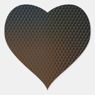 Brown-Beschaffenheit Herz-Aufkleber